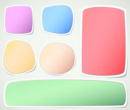 sticky: Set of various colors note papers on gray background.