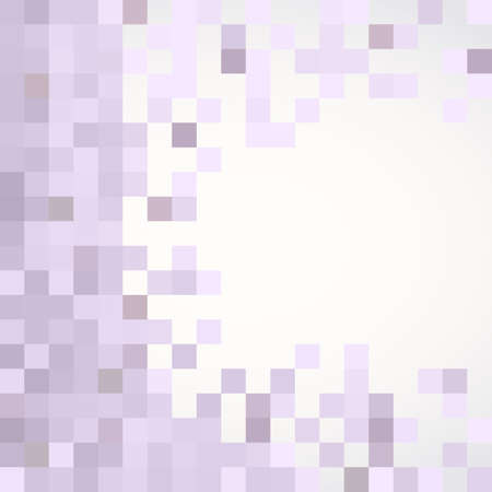 repeat pattern: Purple pattern made of squares with copy space. Pixel mosaic background.