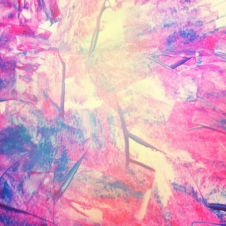 acrylic: Colorful abstract watercolor acrylic painting, brush strokes. Stock Photo