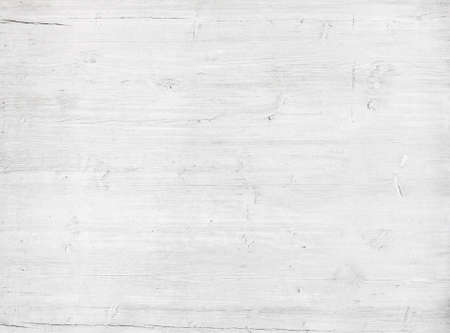 White wooden wall texture, old painted pine board. Stock Photo