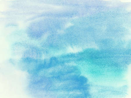 painted background: Abstract painted watercolor water or sky with cloud background.