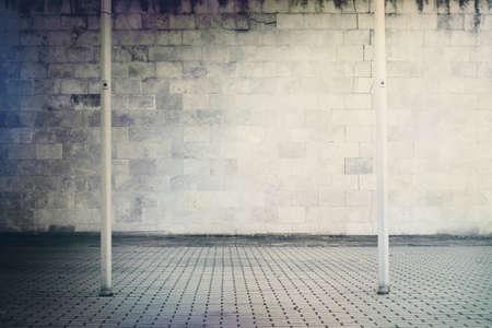 black block: Bloques de hormigón de degradado, textura de la pared de ladrillo con la calzada.