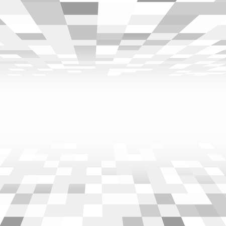 tiled floor: Square tiled floor and ceiling with a perspective room.
