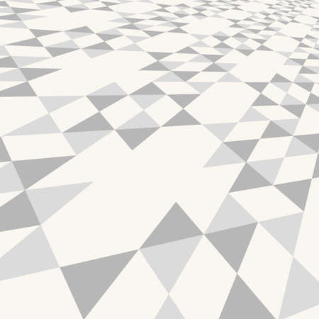 walkway: Diagonal gray triangle tile walkway texture with a perspective or web background. Illustration