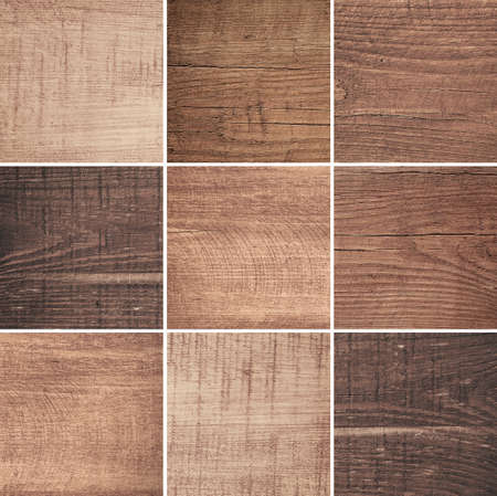 ligneous: Set of different brown wood texture, cutting boards. Stock Photo