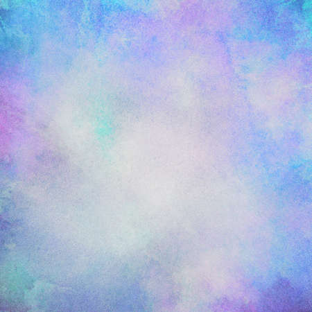 Light abstract blue, pink painted watercolor splashes background. Stock Photo