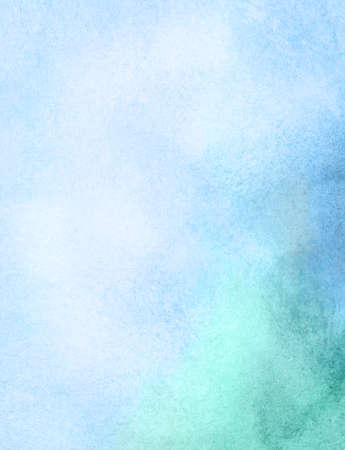 light green: Light abstract blue, green painted watercolor background.