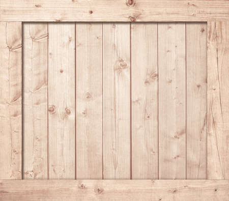 Side of wooden box, wall or frame. Stockfoto