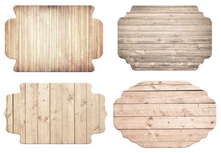 grecas: La luz de se�al de madera ornamental marr�n, tablones est�n aisladas sobre fondo blanco. Foto de archivo