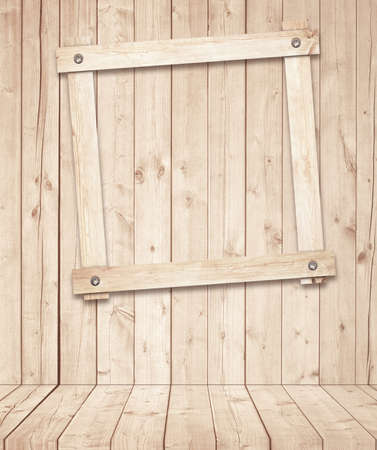 wooden floors: Light brown wooden planks, floors and frame attached to the wall.