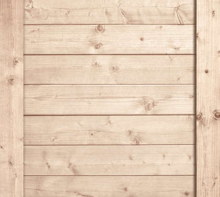 Side of wooden box, light planks or wall. Standard-Bild