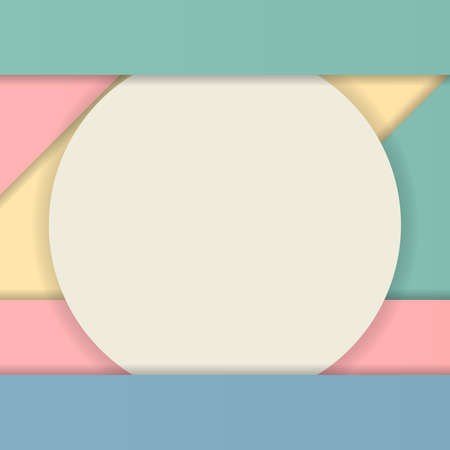 advertising material: Modern material design for web advertising, geometric shapes with shadow.