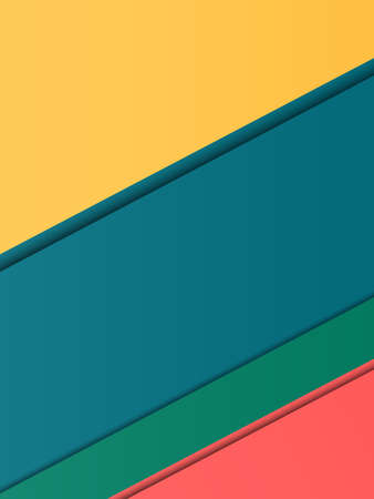 advertising material: Colorful modern material design for web advertising, business card, geometric shapes with shadow.