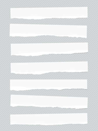 stuck: Ripped white blank paper pieces are stuck on striped background.