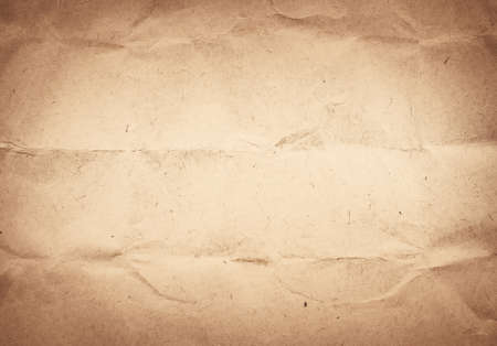 scrunch: Old crumpled, recycled brown paper texture or background.