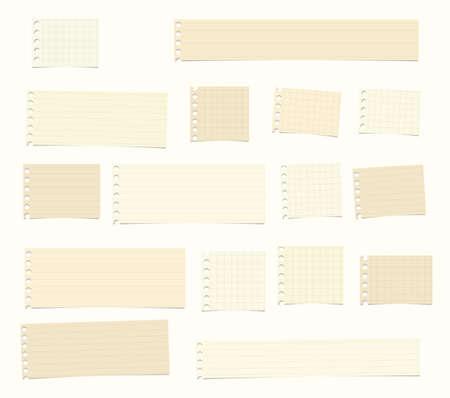 Piezas de corte marrón, gobernado, cuaderno de matemáticas