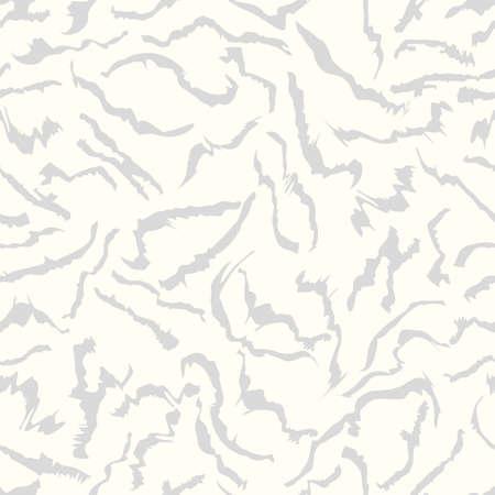 Motif de coups de pinceau gris sans soudure sur fond blanc. Formes abstraites
