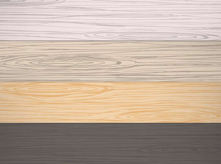 wood surface: Set of different color wooden planks, or wall, table, floor surface. Cutting chopping board. Wood texture Illustration