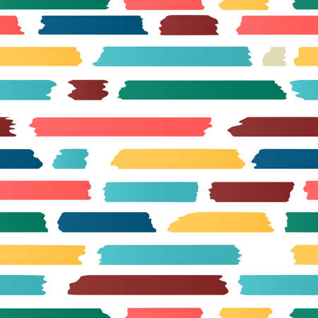 blue stripe: Seamless strips pattern. Horizontal lines with torn and stuck paper effect. Vector illustration