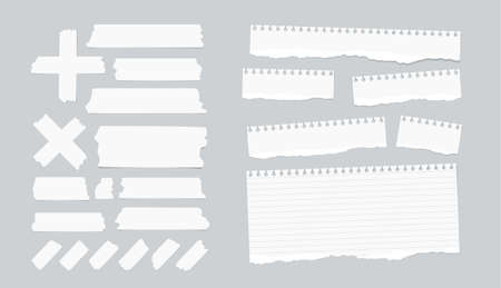 note notebook: Sticky, adhesive masking tape, ripped note, notebook, copybook paper sheets.