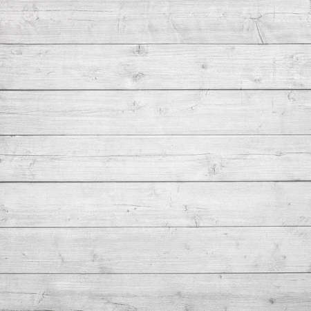 wooden boards: White wooden planks, tabletop, floor surface or wall. Wood texture Stock Photo