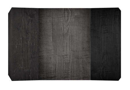 Black wooden planks and board with copy space