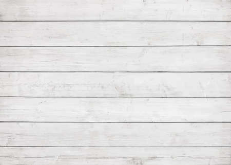 Mur en bois blanc, table, surface de plancher. Texture légère du bois vecteur.