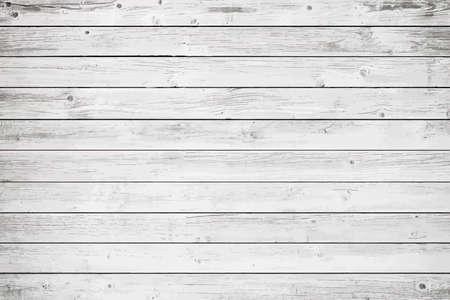 Witte houten muur, tafel, vloeroppervlak. Lichte vector houten textuur.