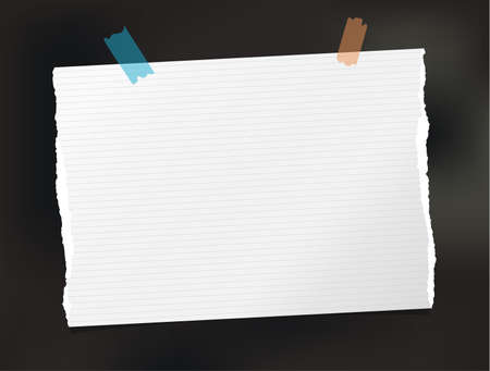 White note paper stuck on a black background.