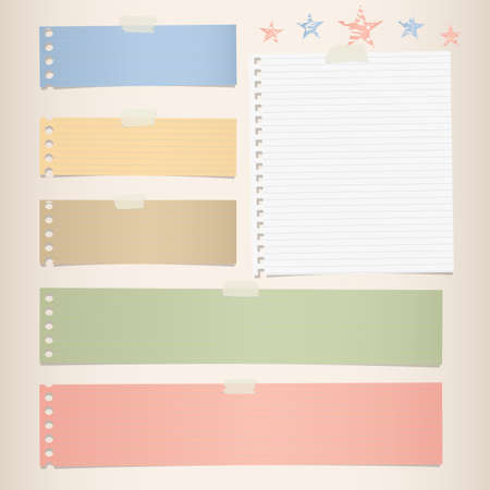 Colorful striped note