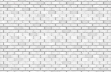 White, gray brick wall texture or background with stains for text. Vector illustration