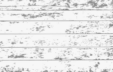 White wooden planks, table floor surface. Wooden board texture. Vector illustration. Illustration