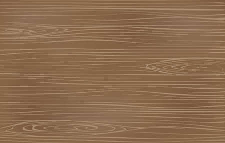 Brown wooden cutting, chopping board, table or floor surface. Wood texture. Vector illustration Illustration