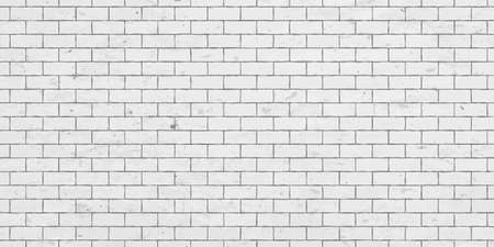 White brick wall with stains texture or background and copy space for display of content design for advertisement product. Vector illustration Stock Photo