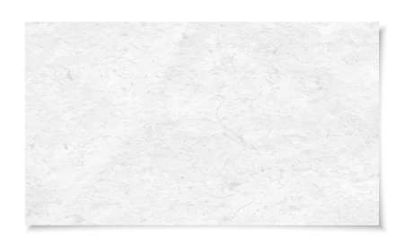 White rough recycled note paper texture with soft shadow is on white background. Vector illustration. Vector Illustration