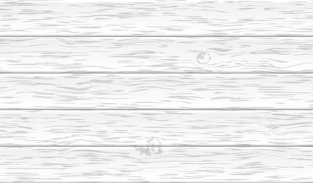 White background or texture, horizontal wooden planks wall, table, floor surface. Light vector illustration.