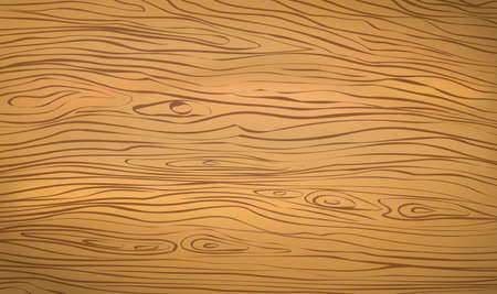 Brown wooden cutting, chopping board, table or floor surface. Wood texture. Vector illustration.
