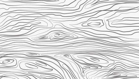 Coupe en bois horizontale blanche, planche à découper, table ou surface de sol. Texture du bois. Illustration vectorielle