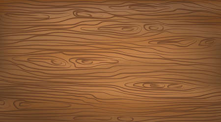 Brown horizontal wooden cutting, chopping board, table or floor surface. Wood texture. Vector illustration