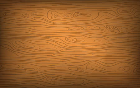 Brown horizontal wooden cutting, chopping board, table or floor surface. Wood texture. Vector illustration.