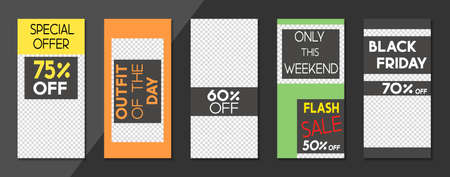 Set of sale, website store banner templates. Banners for online shopping. Editable . Vector illustrations for posters and newsletter designs, ads 矢量图像