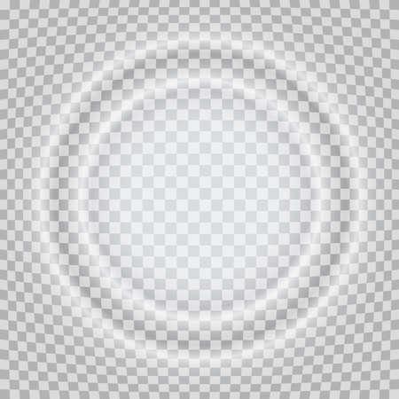 Splash circle waves, round frame, square background. Vector illustration 矢量图像