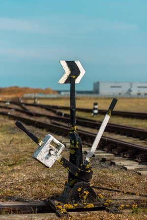 Railway arrow. Translation of the arrow.