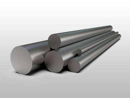 Galvanized steel tube. Rolled metal products. 3d illustration Stockfoto