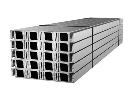Galvanized steel channel. Metal products. 3d illustration Stockfoto