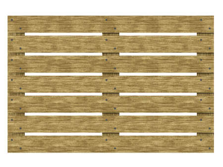 Wooden euro-pane top view. Isolate euro pallet. 3d illustration. Stock Photo