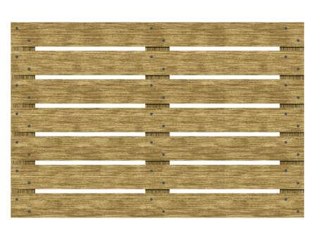 Wooden euro-pane top view. Isolate euro pallet. 3d illustration. Фото со стока