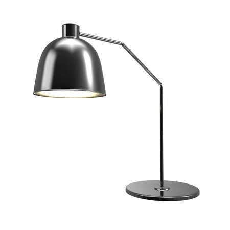 Turning table lamp isolated on white background. 3D rendering