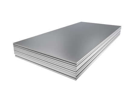 Stack of steel profile sheets. 3D Illustration 版權商用圖片 - 123137641