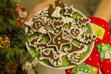 Homemade Christmas baking. Family celebration. Beloved spouse.
